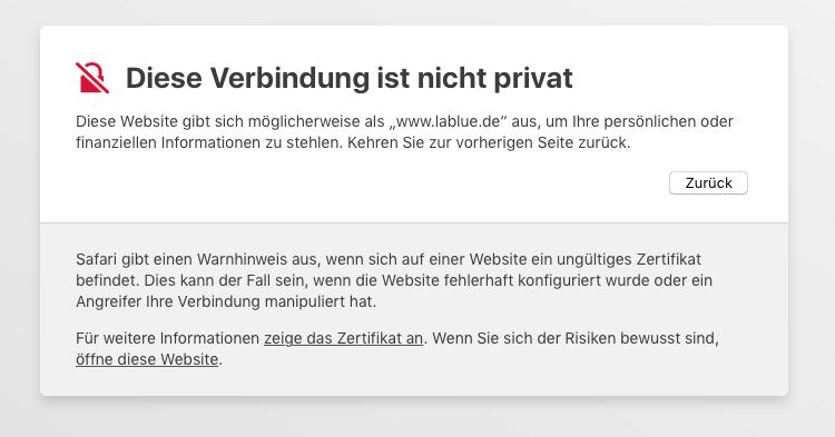 Lablue Offline: Probleme bei der Verbindung - Apps-Finder